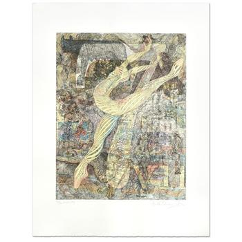 """Guillaume Azoulay! """"Seven"""" Ltd Ed Hand Colored Etching, Numbered and Hand Signed with LOA. $3,000"""