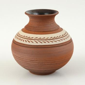 Eugenijus Tamosiunas - Hand Made Ceramic Vase, Hand Signed. $75