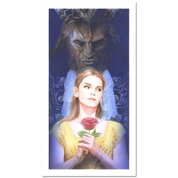 """Alex Ross, """"La Belle Et La Bete"""" Limited Edition Lithograph from Disney Fine Art. Hand Signed and with COA"""