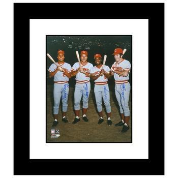 """The Big Four"" Framed Photograph Autographed by Johnny Bench, Tony Perez, Joe Morgan, Joe Morgan & Pete Rose! $1,125"