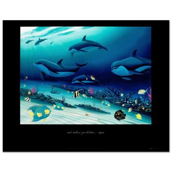 """Wyland! """"Radiant Reef-Right"""" Poster."""