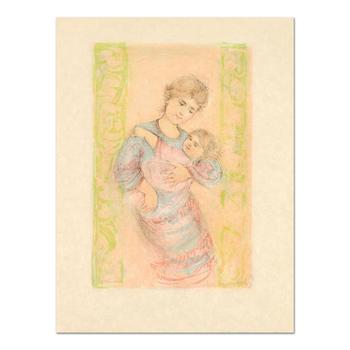 """Edna Hibel (1917-2014), """"Fair Alice and Baby"""" Ltd Ed Lithograph on Rice Paper, Numbered and Hand Signed with Certificate. $690"""