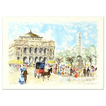 "Urbain Huchet - ""Paris"" Limited Edition Lithograph, Numbered and Hand Signed! $995"