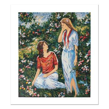 """Igor Semeko - """"Sisters"""" Limited Edition Serigraph, Numbered and Hand Signed with Certificate of Authenticity. $650"""