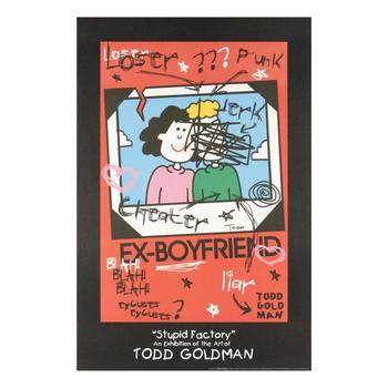 "Todd Goldman! ""Ex-Boyfriend"" FINE ART Litho Poster HAND SIGNED by Renowned Pop Artist Todd Goldman!"