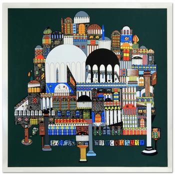"""Ovadia Alkara! """"Atlantis"""" Ltd Ed Serigraph, Numbered and Hand Signed with Certificate! $995"""