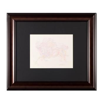 """Guillaume Azoulay, """"Essai Z"""" Framed Original Drawing, Hand Signed with Letter of Authenticity. List $4,950"""