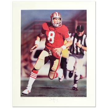 """Daniel M. Smith! """"Run & Shoot"""" Ltd Ed Lithograph, Numbered and Hand Signed by the Artist & Steve Young, w/Cert! $295"""