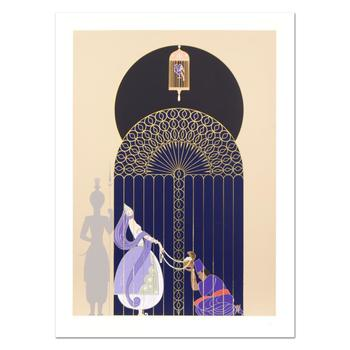 """Erte (1892-1990), """"Bird in a Gilded Cage"""" Limited Edition Serigraph, Numbered and Hand Signed with Certificate. $3,000"""