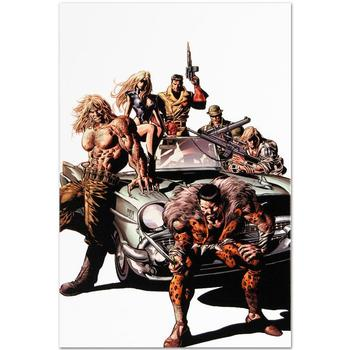 "Marvel Comics! ""New Avengers #10"" Limited Edition Giclee on Canvas by Mike Deodato Jr., Numbered with Certificate! List $500"
