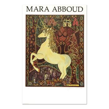 "Mara Abboud, ""Unicorn"" Limited Edition Lithograph from an AP Edition, Hand Signed with Letter of Authentication. $995"