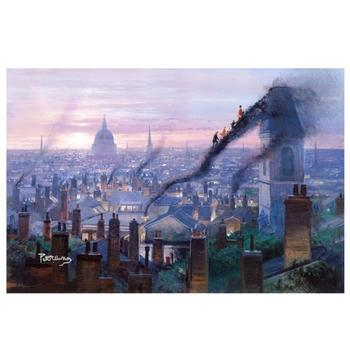"Peter Ellenshaw (d. 2007)! ""Smoke Staircases"" Ltd Ed Giclee on Stretched Canvas, No. & Hand Signed w/Cert! $1,100"