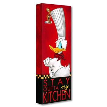 """""""Stay Outta My Kitchen"""" Limited edition gallery wrapped canvas by Tim Rogerson from the Disney Treasures collection."""