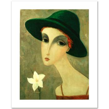 """Sergey Smirnov (1953-2006)! """"Natalia"""" Ltd Ed Mixed Media on Canvas, Numbered and Hand Signed with Certificate! List $1750"""