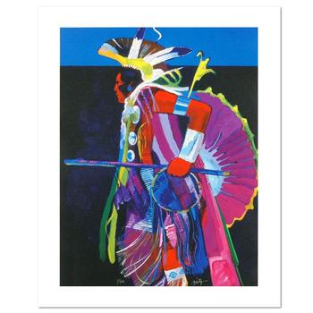 """""""Traditional Dancer I"""" is a LIMITED EDITION Giclee on Canvas by John Nieto, Numbered 1/500 and Hand Signed with Certificate."""