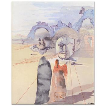 """Salvador Dali (1904-1989) - """"The Avarice and the Prodigality"""" SOLD OUT Ltd Ed Ceramic Tile, Numbered with COA! List: $450"""