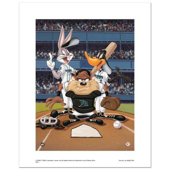 """""""At the Plate (Devil Rays)"""" Numbered Limited Edition Giclee from Warner Bros. with Certificate of Authenticity!"""