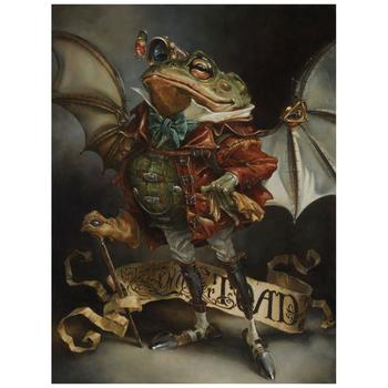 "Heather Theurer, ""The Insatiable Mr. Toad"" Hand Embellished, Hand Signed Limited Edition Canvas from Disney Fine Art; COA"