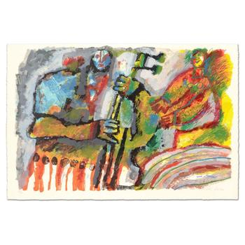 """Theo Tobiasse (1927-2012), """"Gerenade por une Mouse"""" Ltd Ed Lithograph, Numbered 155/310 and Hand Signed with LOA. $2,950"""