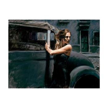 """Fabian Perez """"Calles De San Telmo"""" Hand Embellished Limited Edition Canvas; Hand Signed, with COA."""
