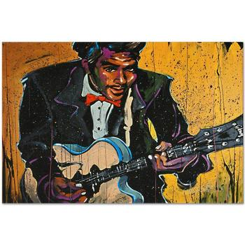 """David Garibaldi! """"Chuck Berry (Chuck)"""" LTD ED Giclee on Canvas (40"""" x 30""""), AP Numbered and Signed w/ Certificate! List $750"""