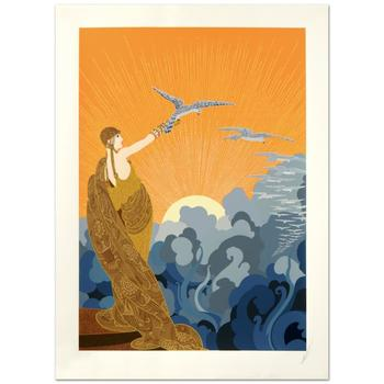 "Erte (1892-1990) - ""Wings of Victory"" Limited Edition Serigraph, Numbered and Hand Signed with Certificate! List $12,250"