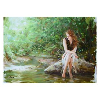 "Vidan - ""By The River"" Limited Edition on Canvas, Numbered and Hand Signed with Certificate."