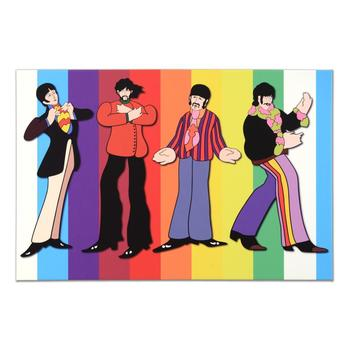 "The Beatles - ""Rainbow Beatles"" Limited Edition on Gallery Wrapped Canvas, Numbered with Certificate of Authenticity. $350"