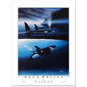 "Wyland! ""Orca Waters"" Poster."
