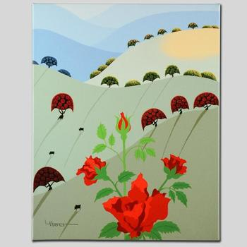 "Larissa Holt! ""Pushing Up Roses"" Ltd Ed Giclee on Gallery Wrapped Canvas, Numbered and Signed with Certificate!"
