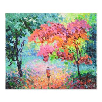 "Alexander Antanenka, ""A Colorful Walk"" Original Oil Painting on Canvas, Hand Signed with Certificate of Authenticity. $4,300"