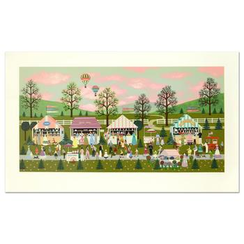 """Jane Wooster-Scott, """"Ice Cream Special"""" Limited Edition Serigraph, Numbered and Hand Signed with Certificate of Authenticity."""