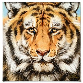 """Katon! """"Terrific Tiger"""" Limited Edition Giclee on Gallery Wrapped Canvas, Numbered and Hand Signed with Certificate! List $420"""