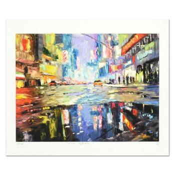 """Elena Bond, """"Urban Reflection"""" Hand Embellished Limited Edition Mixed Media, Numbered and Hand Signed with LOA. $4,500"""