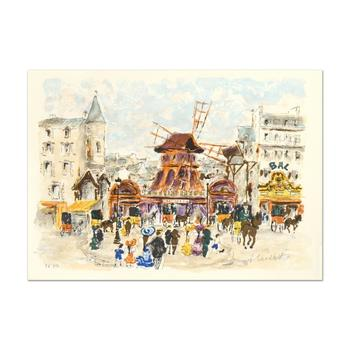 """Urbain Huchet - """"Moulin Rouge """" Limited Edition Lithograph, Numbered and Hand Signed!"""