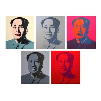 """Andy Warhol """"Mao Portfolio"""" Suite of 5 Silk Screen Prints from Sunday B Morning."""