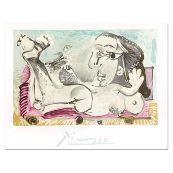 Picasso (d. 1973) - Original Lithograph from the Picasso Estate Collection, Marina Picasso with LOA.
