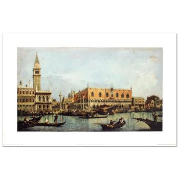 """Canaletto (d.1768), """"Canal of San Marco w/the Piazza San Marco"""" Fine Art Print, Using EncreLuxe Printing Process."""