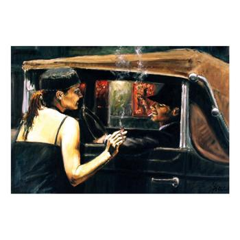 """Fabian Perez """"Calles De San Telmo II"""" Hand Embellished Limited Edition Canvas; Hand Signed, with COA."""