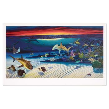 """Wyland, """"Sea Life Below"""" Limited Edition Lithograph, Numbered and Hand Signed with Certificate of Authenticity."""