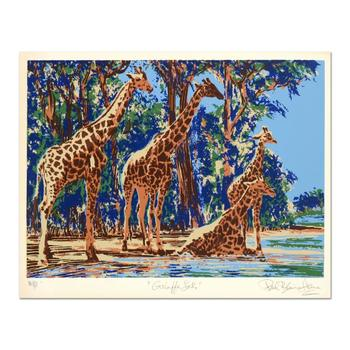"Paul Blaine Henrie (1932-1999), ""Giraffe Lake"" Ltd Ed Serigraph from an AP Edition and Hand Signed w/Cert."