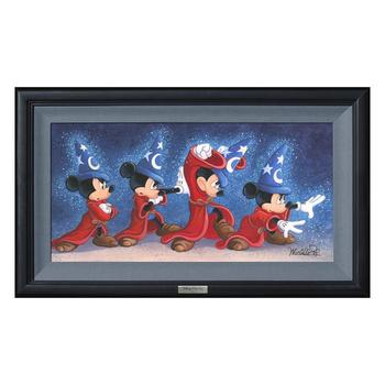 """""""The Sorcerer's Spell"""" Framed Limited Edition Canvas by Michelle St.Laurent from the Disney Silver Series; with COA"""