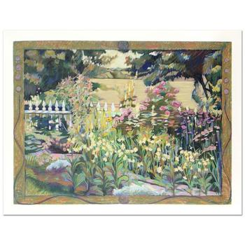 """Nina Weiss, """"English Garden"""" Limited Edition Serigraph, Numbered and Hand Signed with Certificate of Authenticity."""