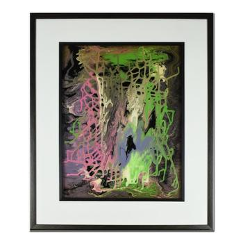 """George Marlowe, """"Pastel Infusion"""" Framed Hand Signed Original Mixed Media with COA"""