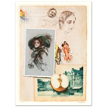 """Arie Azene, """"Family Album"""" Limited Edition Lithograph, Numbered and Hand Signed with Certificate."""