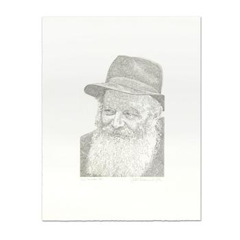 """Guillaume Azoulay, """"Rebbe"""" Limited Edition Etching, Numbered and Hand Signed."""