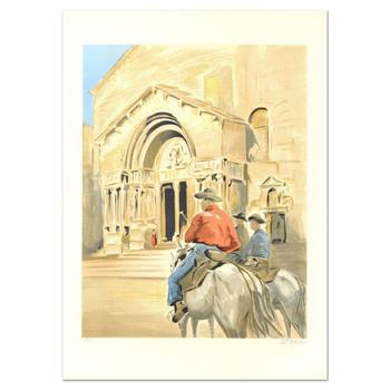 """Victor Zarou, """"Eze"""" Limited Edition Lithograph, Numbered and Hand Signed."""