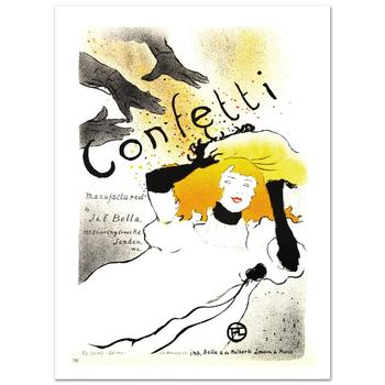 """""""Confetti"""" Hand Pulled Lithograph by the RE Society, Image Originally by Henri de Toulouse-Lautrec w/Cert."""
