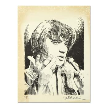 """Paul Blaine Henrie (1932-1999), """"Elvis"""" Ltd Ed Lithograph from a PP Ed and Hand Signed w/COA."""