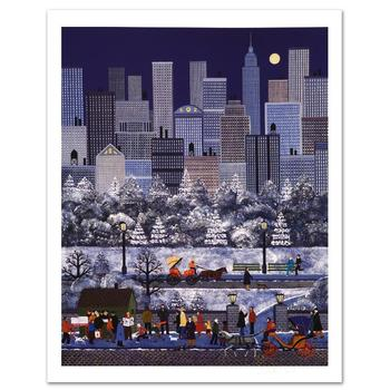 "Jane Wooster Scott, ""New York, New York"" Ltd Ed Lithograph, Numbered and Hand Signed with Certificate."